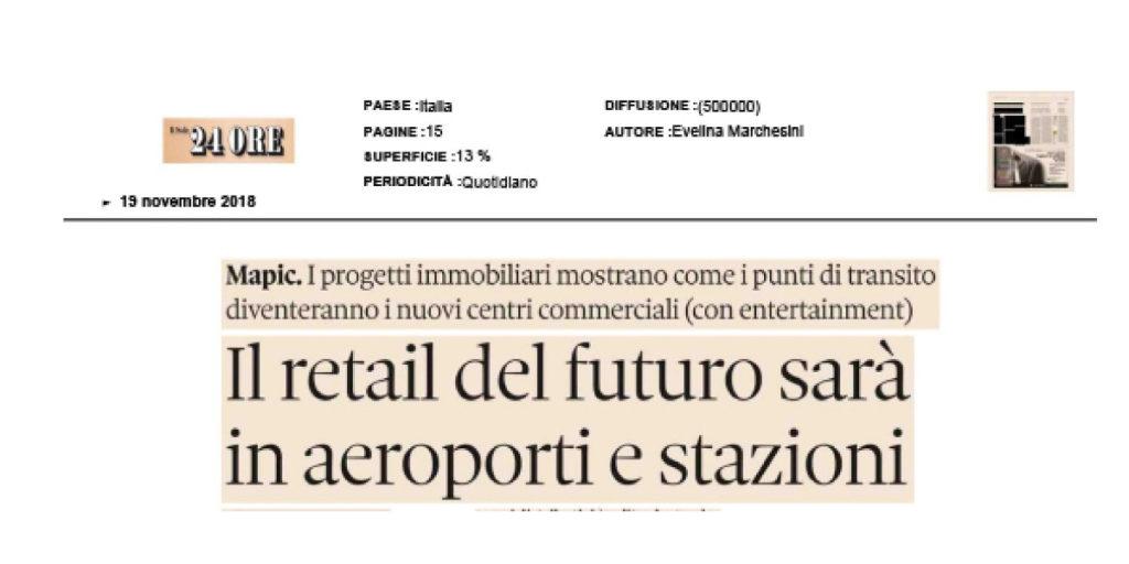 Il Retail del futuro sarà in aeroporti e stazioni