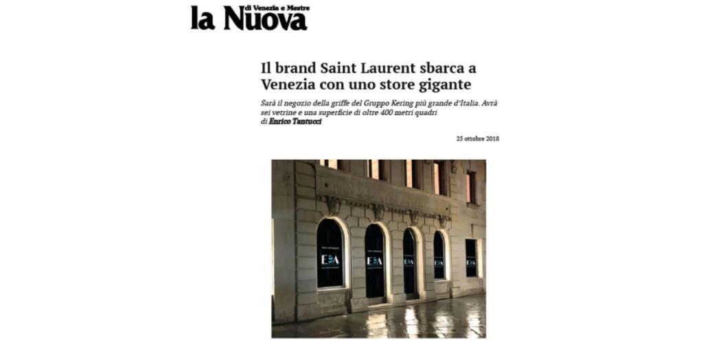 Il brand Saint Laurent sbarca a Venezia con uno store gigante